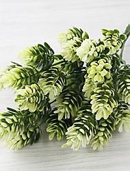 baratos -2 Ramo Poliéster Plástico Plantas Flor de Mesa Flores artificiais Decoração para casa Bouquets de Noiva