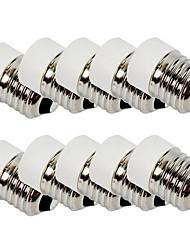 billige -10pcs E27 til E14 E26 / E27 Bulb tilbehør / Adapter Lysstik Plast