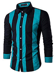cheap Weekly Deals-Men's Slim Shirt - Striped / Long Sleeve
