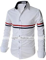 Недорогие -Муж. Классический Рубашка Тонкие Винтаж Полоски