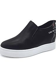abordables -Femme Chaussures Polyuréthane Printemps Automne Confort Ballerines Hauteur de semelle compensée pour De plein air Blanc Noir