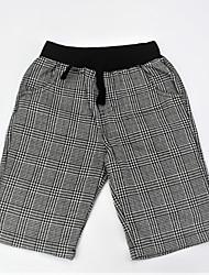abordables -Pantalones Chico Diario A Rayas Bloques Algodón Verano Simple Casual Gris Oscuro