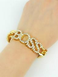 abordables -Femme Strass Imitation Diamant énorme Chaînes & Bracelets Bracelet - Classique énorme Mode Irrégulier Or Argent Bracelet Pour Soirée Bar