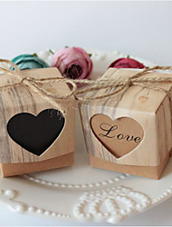 "cheap -2"" Square Letter Card Paper Cord Favor Holder with Sweetheart Favor Boxes - 10"