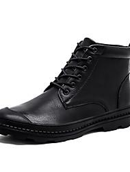 Недорогие -Муж. обувь Кашемир Зима Армейские ботинки Ботинки для Повседневные Черный Темно-коричневый