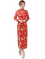 economico -Cosplay Vestiti Abito a-line Abito a matita Vestito da Serata Elegante Per donna Feste / vacanze Costumi Halloween Fucsia Rosso