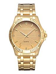 preiswerte -CHENXI® Herrn Simulierter Diamant Uhr Kleideruhr Modeuhr Japanisch Quartz Imitation Diamant Armbanduhren für den Alltag Edelstahl Band