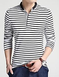 preiswerte -Herrn Gestreift T-shirt Grundlegend