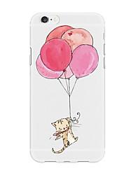Недорогие -Кейс для Назначение Apple iPhone X / iPhone 8 Plus С узором Кейс на заднюю панель Животное / Мультипликация / Воздушные шары Мягкий ТПУ для iPhone X / iPhone 8 Pluss / iPhone 8
