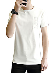 cheap -Men's Basic Street chic Cotton Slim T-shirt - Solid Colored Round Neck