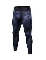 baratos -Homens Calças de Corrida - Azul, Vermelho / Branco, Cinzento Esportes Sólido, Estampado Calças / Leggings Exercício e Atividade Física Roupas Esportivas Respirabilidade Com Stretch