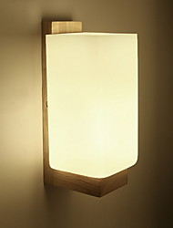 cheap -Modern/Contemporary Wall Lamps & Sconces For Bedroom Study Room/Office Wood/Bamboo Wall Light 220-240V 3W