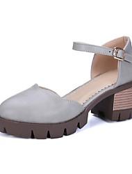 Недорогие -Жен. Обувь Дерматин Материал на заказ клиента Весна Осень Оригинальная обувь Удобная обувь Обувь на каблуках На толстом каблуке Круглый