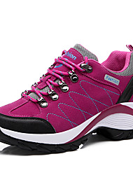cheap -Women's Shoes PU Winter Fall Comfort Athletic Shoes Hiking Shoes Flat Heel Round Toe for Athletic Casual Black Purple Fuchsia