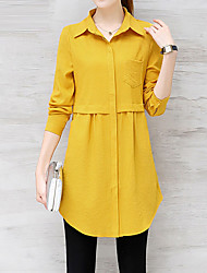 cheap -Women's Work Business Street chic Slim Shirt - Solid Colored, Basic Shirt Collar
