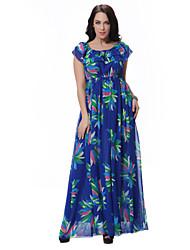 cheap -Women's Boho Skinny Swing Dress - Floral Print Strapless
