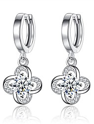 cheap -Women's Zircon Drop Earrings - Elegant / Fashion Silver / Purple Four Leaf Clover Earrings For Daily / Ceremony