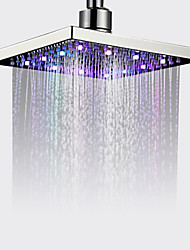cheap -Contemporary Rain Shower Chrome Feature - Rainfall Eco-friendly LED, Shower Head