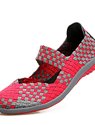 cheap -Women's Shoes Customized Materials Spring / Summer Comfort Loafers & Slip-Ons Wedge Heel Black / Purple / Fuchsia