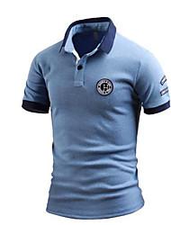 cheap -Men's Polo - Letter Shirt Collar