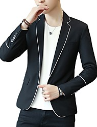 cheap -Men's Active Blazer-Solid Colored / Please choose one size larger according to your normal size. / Long Sleeve