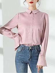 preiswerte -Damen Solide-Retro Hemd