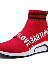 Недорогие -Муж. Хлопок / Искусственная кожа Весна / Лето Удобная обувь Спортивная обувь Для прогулок Черный / Красный