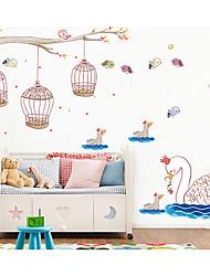Abstrakt Vægklistermærker Fly vægklistermærker Animal Wall Stickers Dekorative Mur Klistermærker, Papir Hjem Dekoration