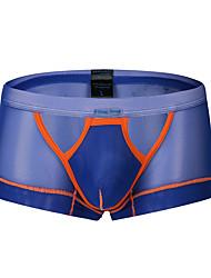 Недорогие -мужской нормальный микро-эластичный лоскутное одеяло боксерное белье средний, нейлон 1шт светло-голубой желтый оранжевый черный белый