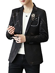 cheap -Men's Active Blazer-Print / Please choose one size larger according to your normal size. / Long Sleeve