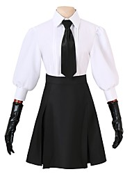 cheap -Inspired by Bungo Stray Dogs Cosplay Anime Cosplay Costumes Cosplay Suits Other Long Sleeve Top / Skirt / Gloves For Men's / Women's Halloween Costumes