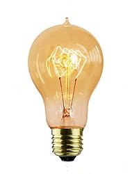 abordables -1pc 40W E26/E27 A60(A19) Jaune chaud 2000 K Décorative Ampoule incandescente Edison Vintage 110-120V 220-240V