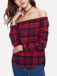 preiswerte -Damen Sexy Hemd - Verziert, Grundlegend Bateau