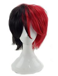 Недорогие -Парики из искусственных волос Кудрявый Стрижка каскад Искусственные волосы Природные волосы Красный / Черный Парик Муж. Короткие Без шапочки-основы
