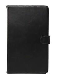 billiga -fodral Till Tab S 10.5 / Tab S 8.4 / Samsung Galaxy Samsung Galaxy-fodral Plånbok / Korthållare / med stativ Fodral Enfärgad Äkta Läder för Tab 4 10.1 / Tab 4 8.0 / Tab Pro 10.1