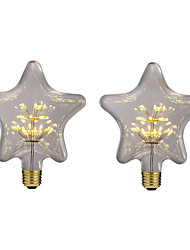 Недорогие -brelong 2 шт 3w e27 30led звезда шарики шаржа ac220 желтый
