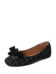 abordables -Femme Chaussures Gomme Printemps Automne Confort Ballerines Talon Plat Bout rond pour De plein air Noir Gris