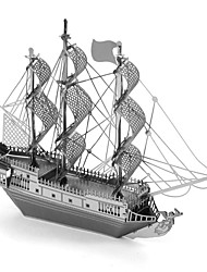 cheap -3D Puzzles Metal Puzzles Pirate Ship Creative Focus Toy Hand-made Metal Nautical Standing Style Toy Girls' Boys' Gift