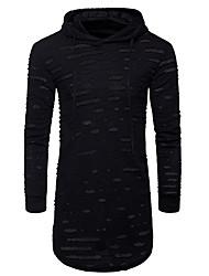 abordables -Tee-shirt Homme, Points Polka - Ouvert Chic de Rue Capuche Mince Coton