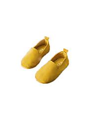 baratos -Para Meninas Para Meninos Sapatos Couro Ecológico Camurça Couro Primavera Conforto Mocassins e Slip-Ons para Casual Social Bege Amarelo