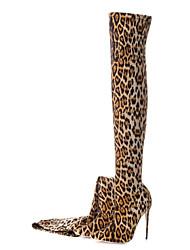 baratos -Mulheres Sapatos Materiais Customizados Outono Inverno Botas da Moda Botas Salto Agulha Dedo Apontado Carregadores coxa-alta para