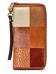 cheap -Unisex Bags Cowhide Wallet Zipper for Formal / Office & Career Brown