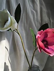 abordables -1 Une succursale Plastique Tissu Autres Arbre de Noël Fleurs artificielles