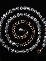 abordables -Danse du ventre Ordinaire Femme Entraînement Utilisation Polyester Détail Cristal Chaîne Moderne Loisir Accessoires de taille