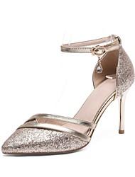abordables -Femme Chaussures Paillette Brillante Printemps / Eté Bride de Cheville Chaussures à Talons Talon Aiguille Bout pointu Strass / Boucle