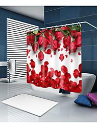 abordables -Rideaux de douche et anneaux Moderne Polyester Nouveauté Fabrication à la machine Imperméable