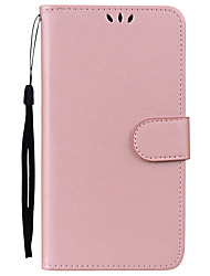 cheap -Case For OnePlus 5 Card Holder with Stand Flip Full Body Cases Solid Color Hard PU Leather for One Plus 5