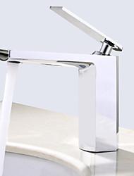 baratos -Montagem em Plataforma Válvula Cerâmica Monocomando e Uma Abertura Cromado, Torneira pia do banheiro