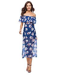 preiswerte -Damen Hülle Kleid - Druck, Blumen