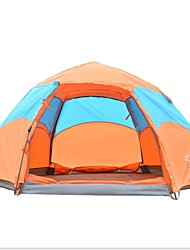 baratos -Sheng yuan 4 pessoas Tenda Dupla Camada Barraca de acampamento Ao ar livre Tenda Automática Á Prova-de-Chuva / A Prova de Vento para